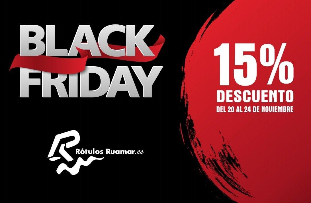 Black Friday 15% descuento en pedidos