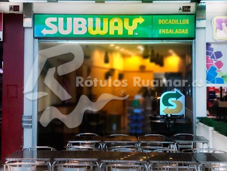 Rótulo Subway