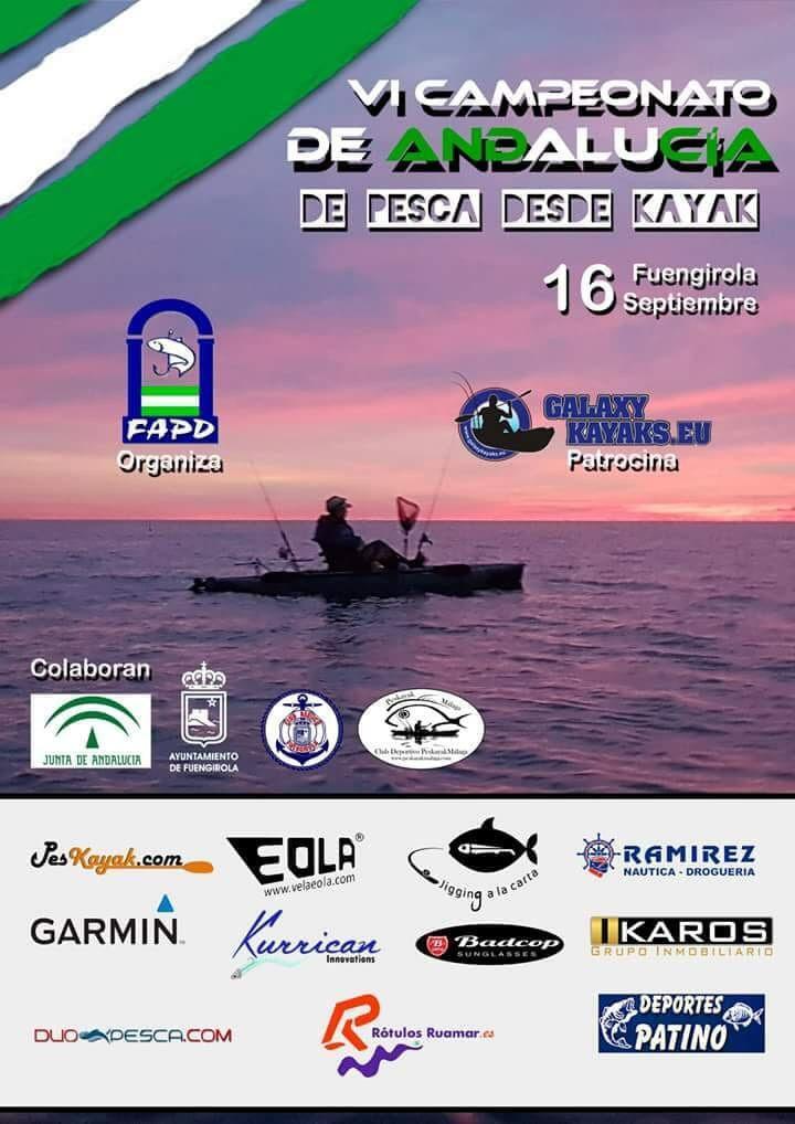 VI Campeonato de Andalucía de pesca en kayak