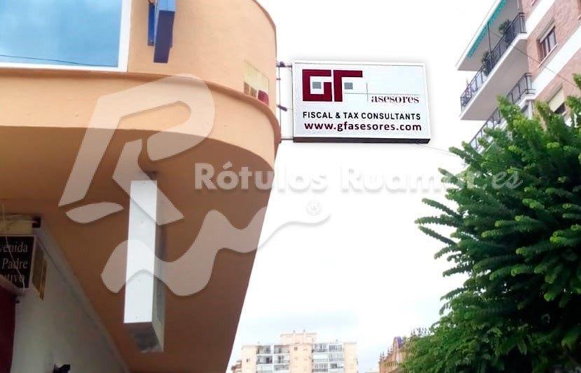 Cartel Luminoso para GF Asesores