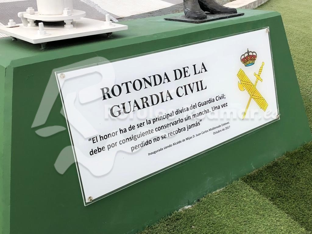 Cartel rotonda Guardia Civil